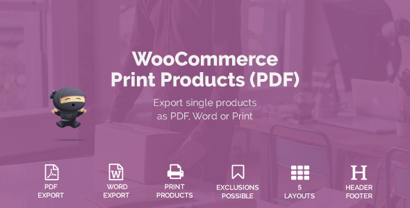 WooCommerce Print Products (PDF) | Codecanyon collections