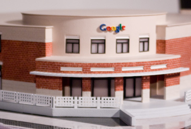 3D printed Google HQ building.