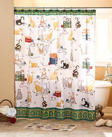 Refresh Your Bathroom Decor With The Adorable Playful Cats Bathroom  Collection. Hang The Polyester Shower