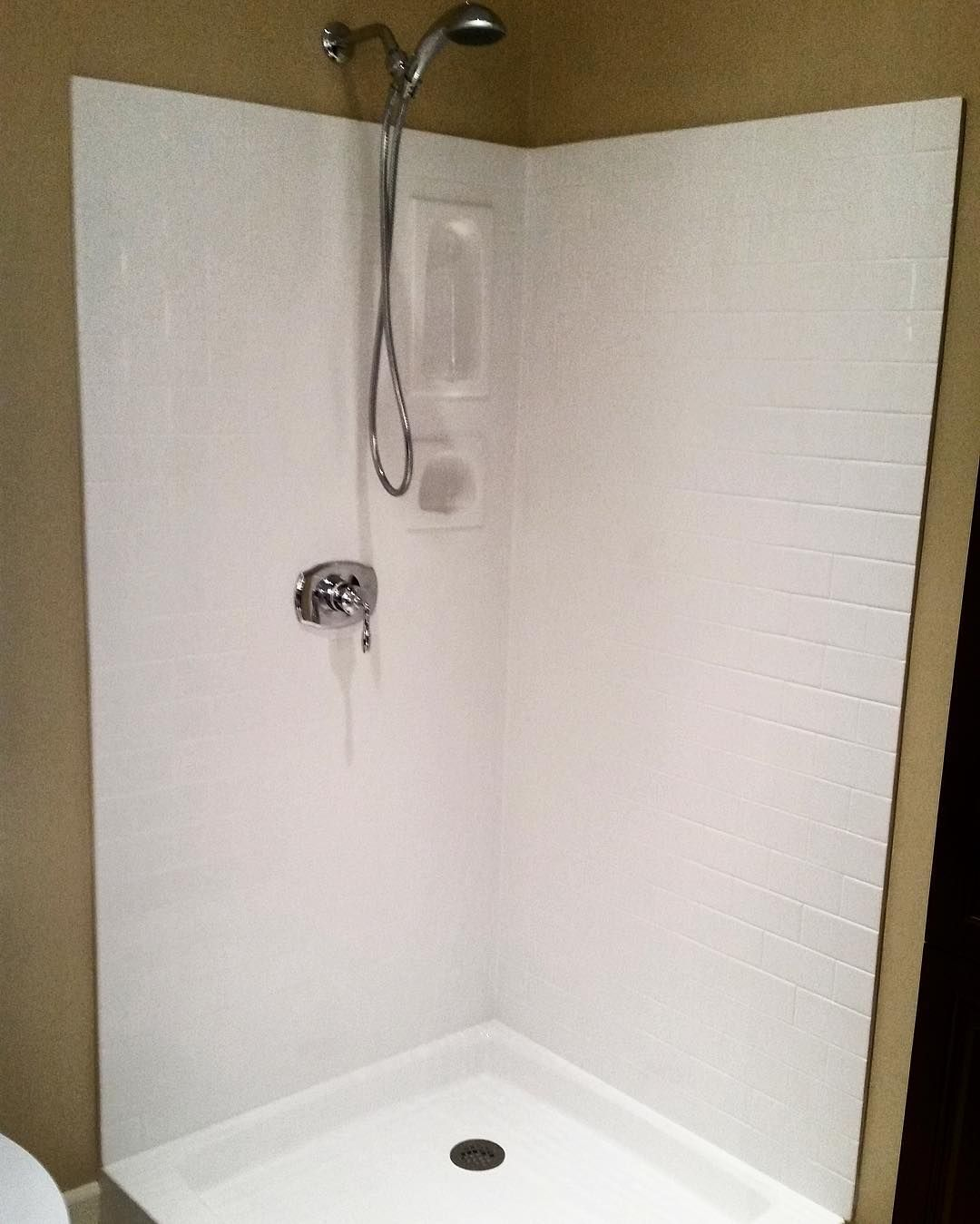 Looking For A Subwaytile Shower These New Shower Wall Panels From Terestone Give The Look Without The Cost Of Individual Tile Installation A