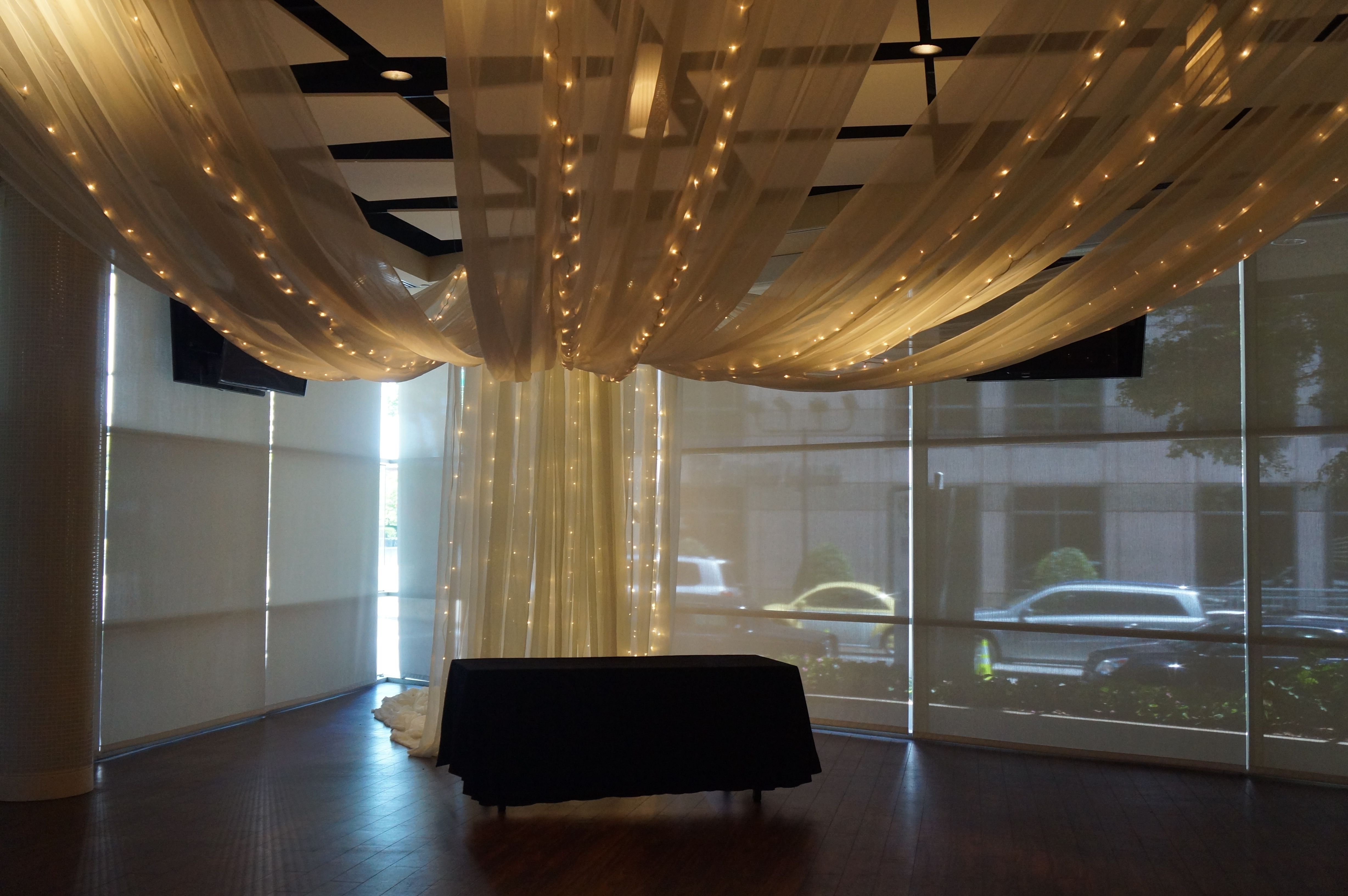 Ceiling Drape And Lighting At Hyatt Regency In Downtown Greenville,