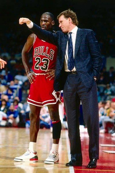 MJ w/ his 1st NBA coach Doug Collins