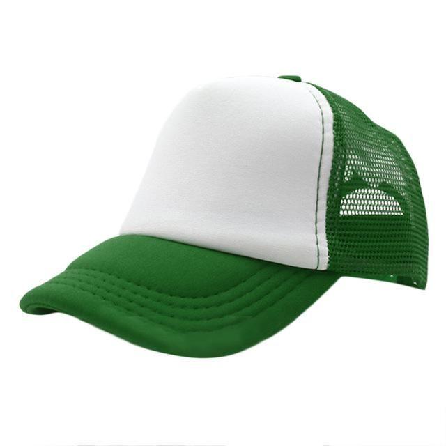 Black Plain Trucker Mesh Hat Snapback Blank Baseball Cap Adjustable Size