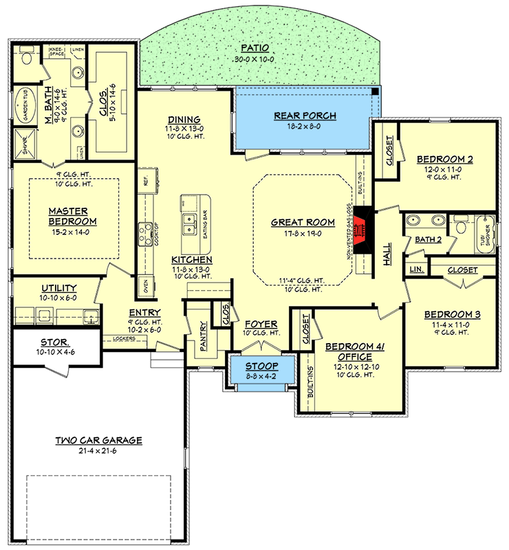 Plan 51736hz Flexible Southern Home Plan Pantry