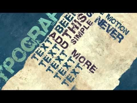 VideoHive - Typography Free After effects template (mediafire - best of videohive world map earth zoom free download