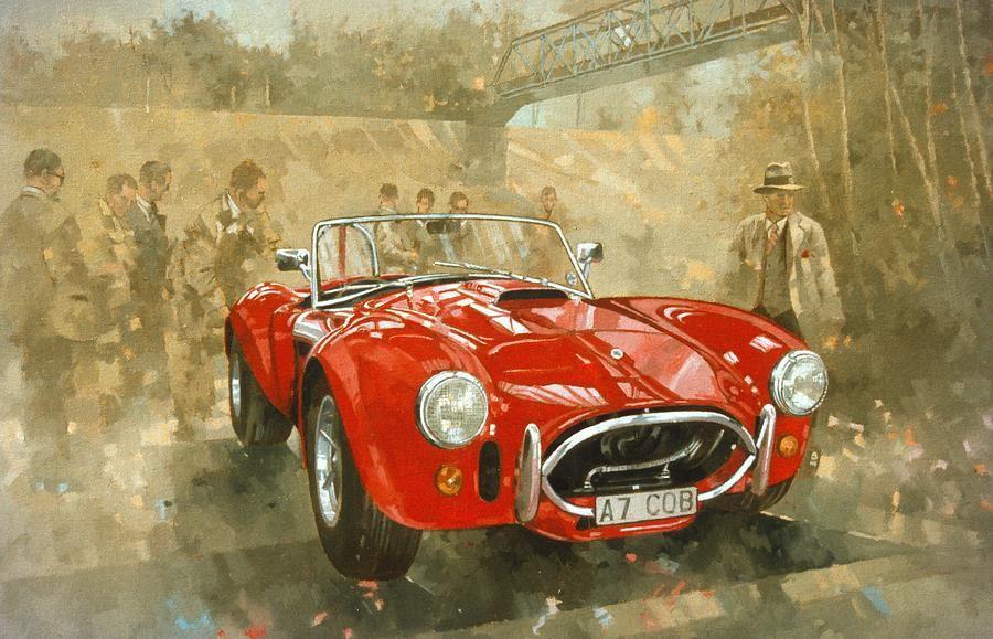 Cobra At Brooklands Painting  - Cobra At Brooklands Fine Art Print