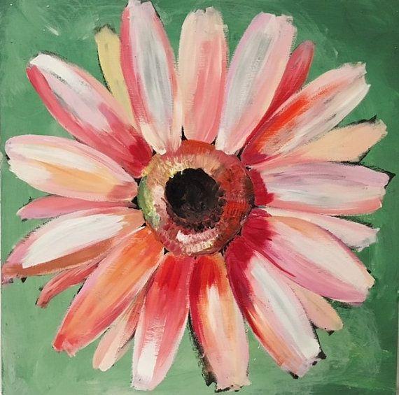 Custom Flower Paintings On Wood Panels Handpainted Original Art