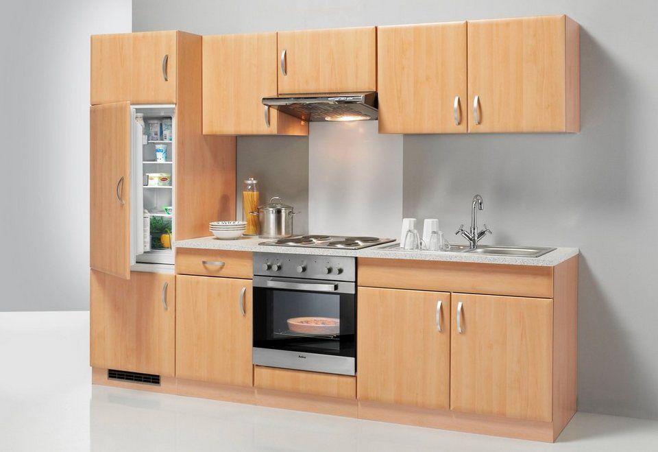 wiho Küchen Küchenzeile »Prag«, mit EGeräten, Breite 270