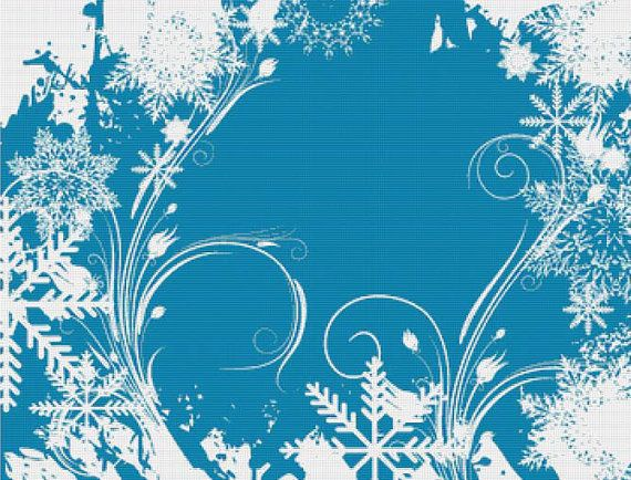 Winter Swirls PDF Cross Stitch Pattern by XSquaredCrossStitch, $6.00