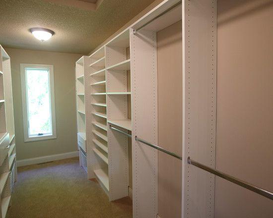 Closet Long And Narrow Walk In Closet My Design Has A Window But Cherry Wood Narrow Closet Design Narrow Closet Narrow Closet Organization