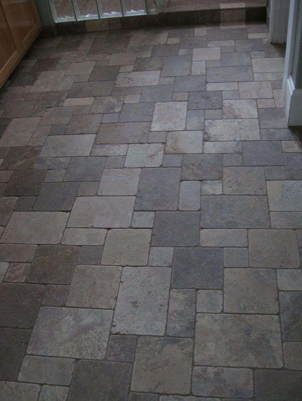 natural stone kitchen floor tile ideas in romano opus