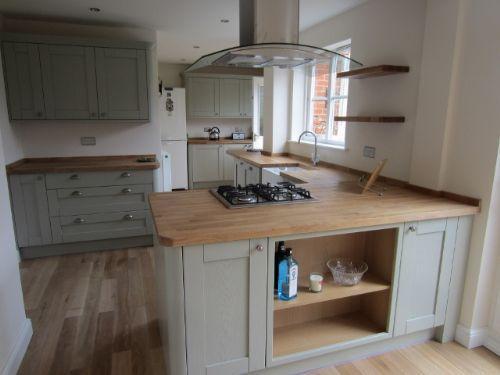 Tewkesbury Skye With Solid Oak Worktops Howdens Kitchen Pinterest Oak Worktops Solid Oak