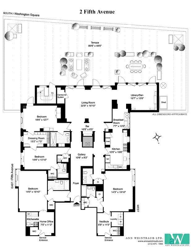 Mammoth 10 Million Lower Fifth Avenue Apartment Goes For The Craigslist Method Luxury Floor Plans