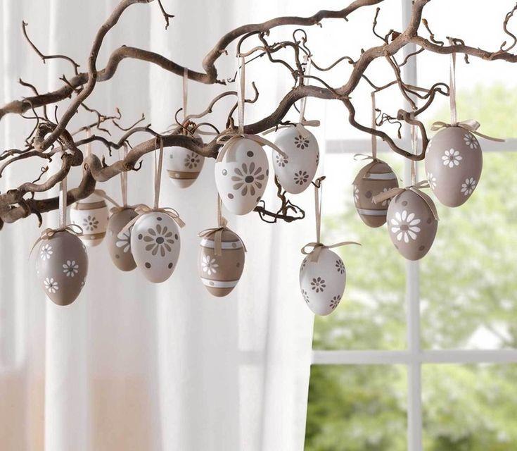 12 Dekoeier Set Ostereier Pastellblüte Fensterdeko Eier Ostern Deko Frühling -...