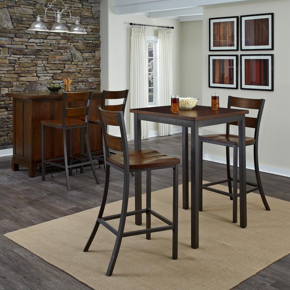 Distressed Chestnut Pub/Bar Table | kitchen | Bistro table ...