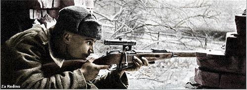 Red Army sniper - Brandenburg Germany 1945