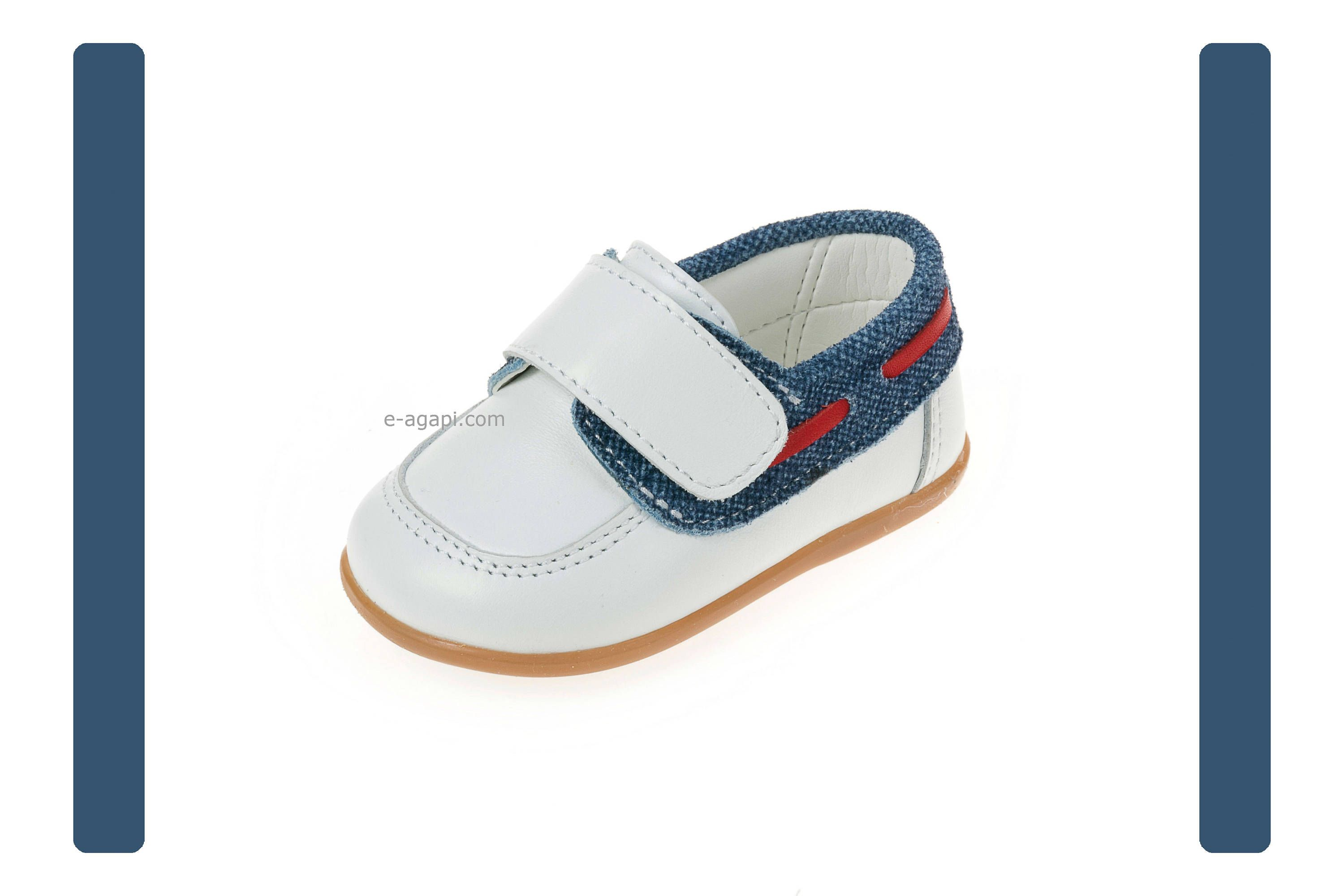 Moccassins Leather denim baby boy shoes Velcro shoes toddler wedding