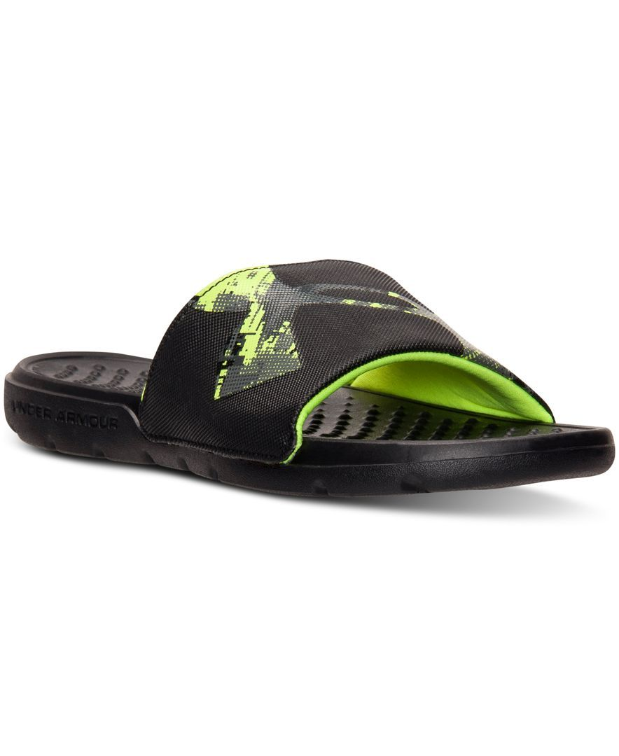 the best attitude d9963 82cd6 Under Armour Boys  Strike Bope Slide Sandals from Finish Line