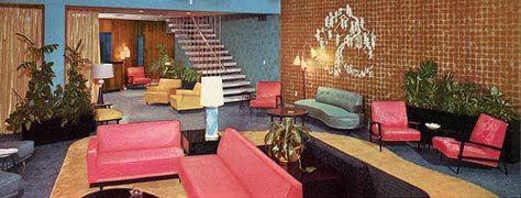 Hotel Lobby From The 50 S 60 S Mid Century Inspiration
