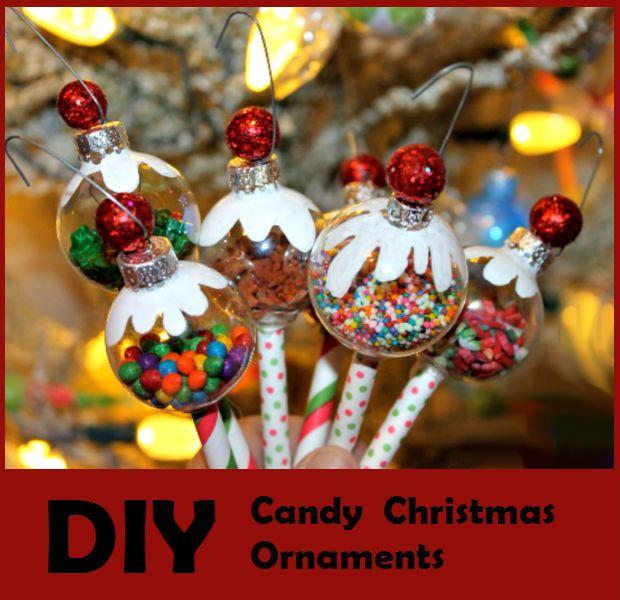 Diy Candy Christmas Ornaments Diy Christmas Candy Diy Christmas