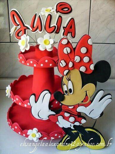 Vases para cupcakes de minnie mouse roja