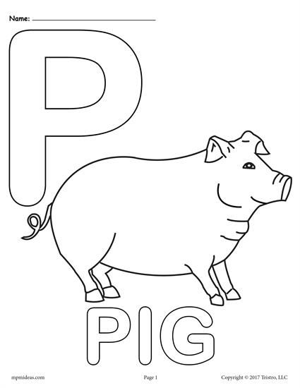 letter p alphabet coloring pages  3 free printable