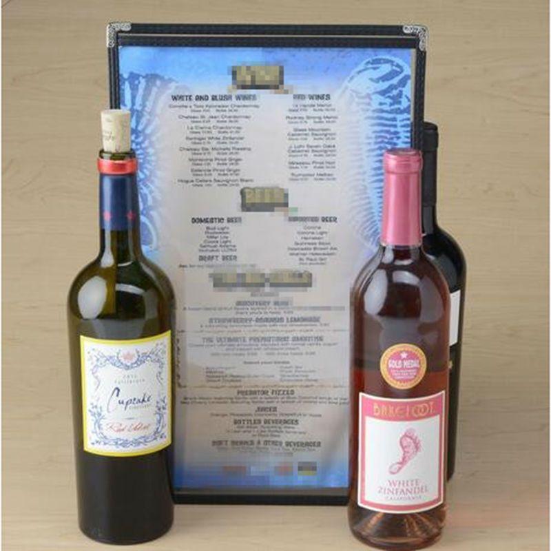 30 Pcs/lot B4 Size PVC Restaurant Menu Covers Wine List Covers Bar