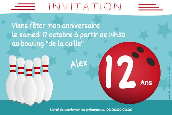 Carte Invitation Anniversaire Bowling Party Anniversaire Bowling Invitation Anniversaire Garcon Invitation Anniversaire