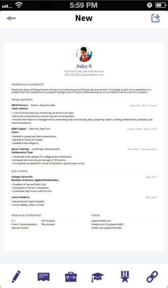 Levo Resume On The App Store On Itunes Resume Tips Best Resume Template Resume