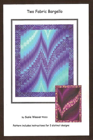 Two Fabric Bargello Pattern Cover | Bargello Quilts | Pinterest ... : two fabric quilts - Adamdwight.com