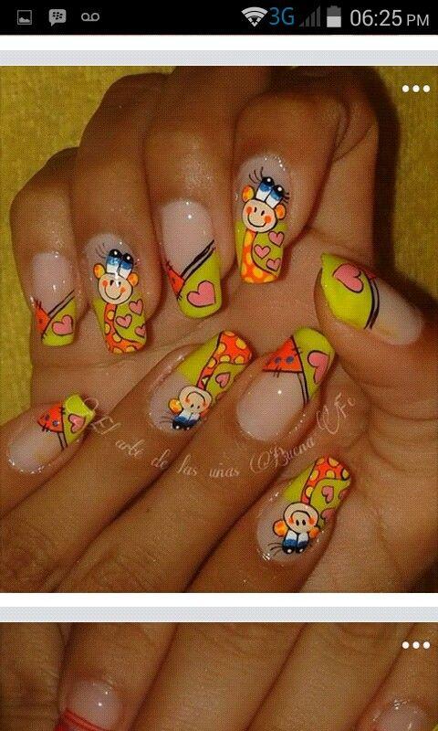 Uñas Jirafa Uñas Nails Nail Art Y Gel Nail Designs