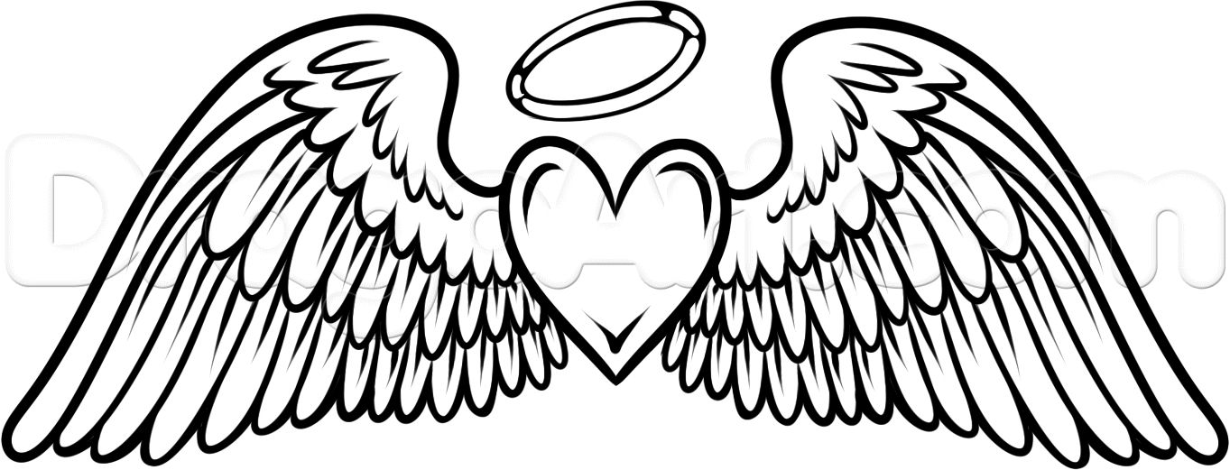 This Angel Wings With Heart Halo Tattoo Dedication To My Grandfather On My Right Ankle Heart With Wings Tattoo Angel Drawing Wings Drawing