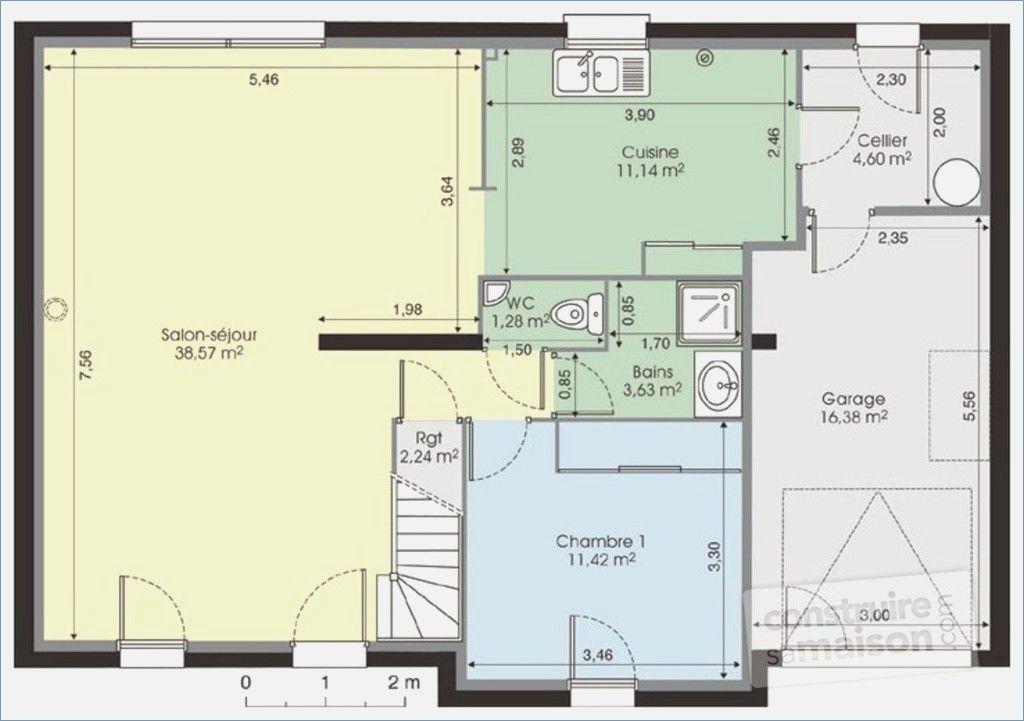 plan de maison moderne a etage