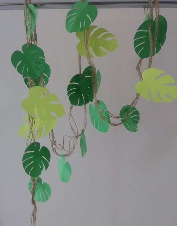 Garland 8 Feet Tropical Leaf Garland Safari Jungle Garland Store Window Decor Wedding Baby Shower Bridal Shower Decor Photo Prop Backdrop - #baby #Backdrop #Bridal #Decor #feet #Garland #Jungle #leaf #Photo #Prop #Safari #Shower #Store #tropical #Wedding #Window #leafgarland