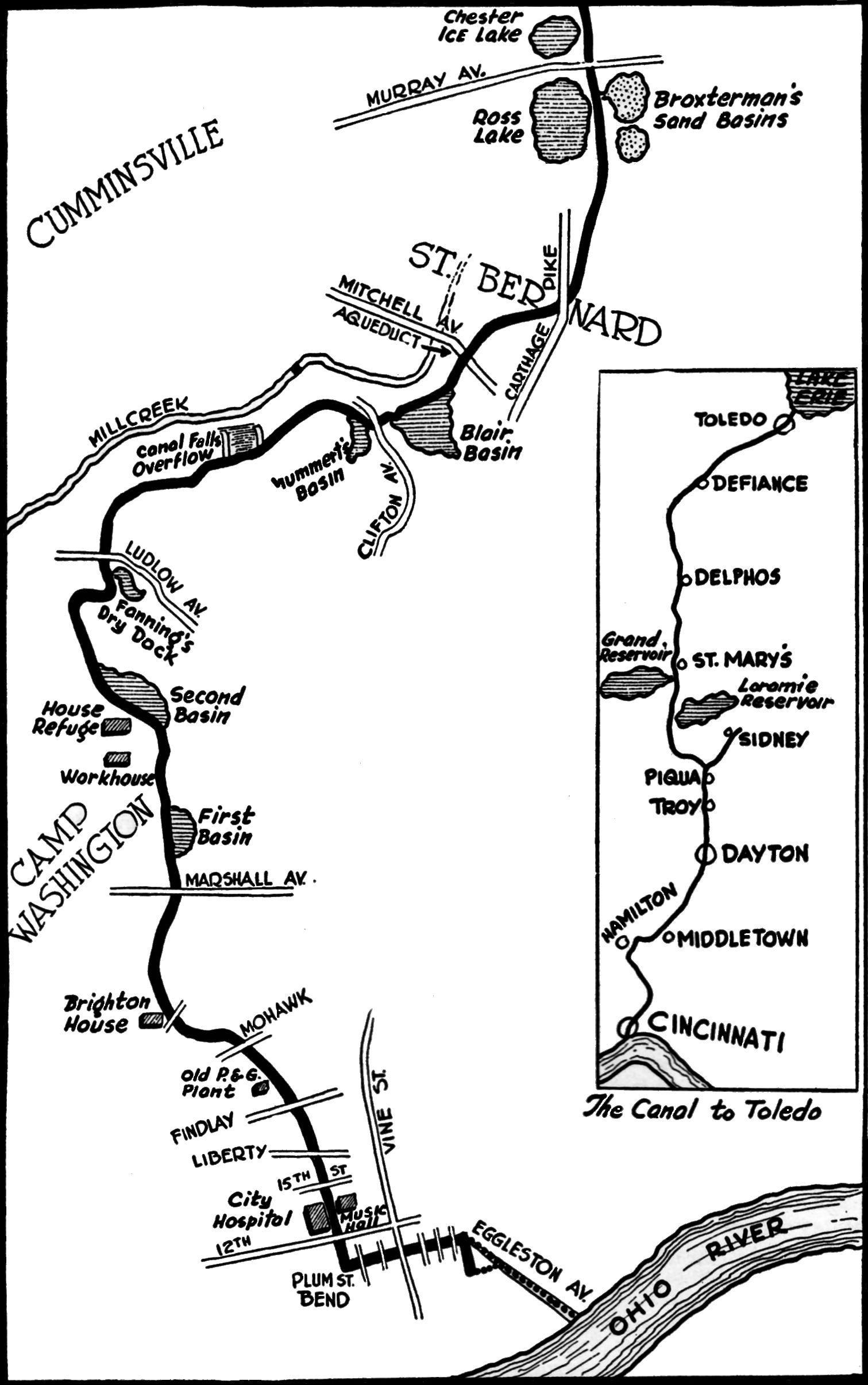 brighton cincinnati ohio | canal route