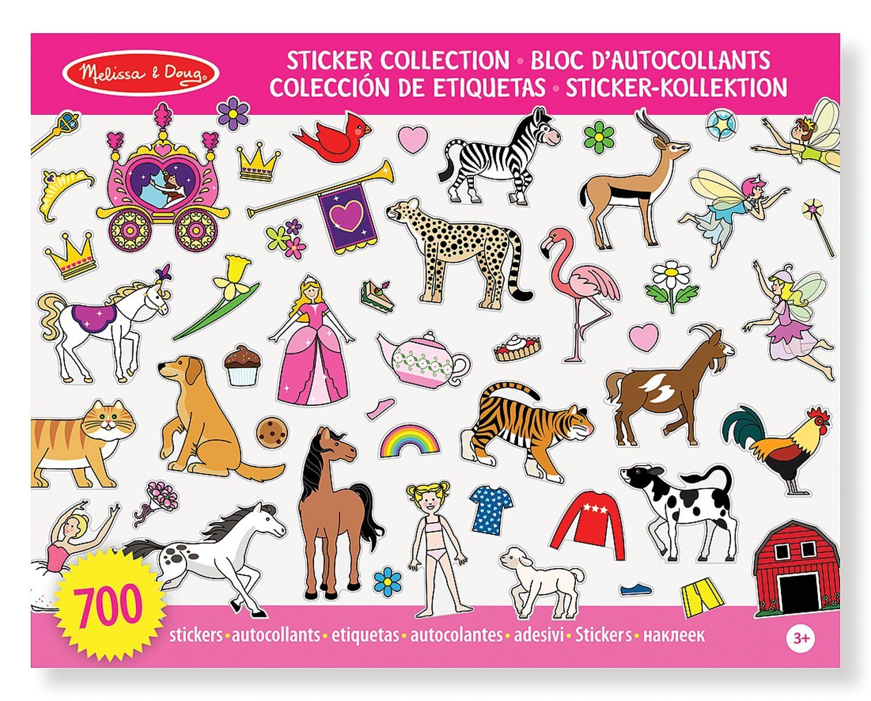 Melissa Doug Sticker Collection Color Rosa 10 P Ginas Tem Ticas