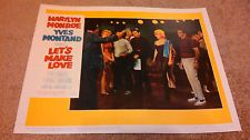 Let's Make Love 11 X 14 Lobby Card LC Marilyn Monroe Yves Montand