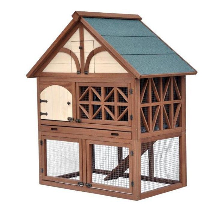 Protect your rabbits in style with the Tudor Rabbit Hutch.