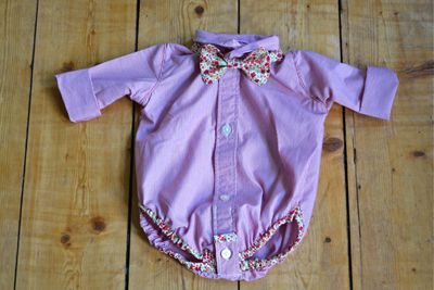 baby shirt onesie from men's shirt