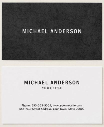 Modern Dark Masculine Minimal Rough Texture Business Card Zazzle Com Business Card Texture Minimal Business Card Professional Business Cards