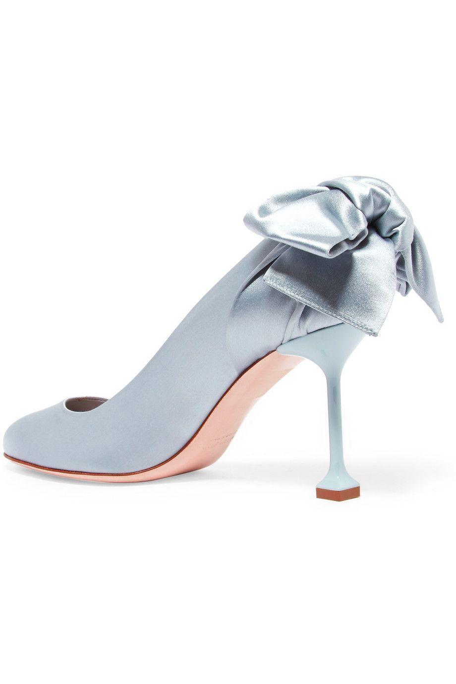 14478300a Miu Miu | Bow-embellished satin pumps | NET-A-PORTER.COM | Miu Miu ...