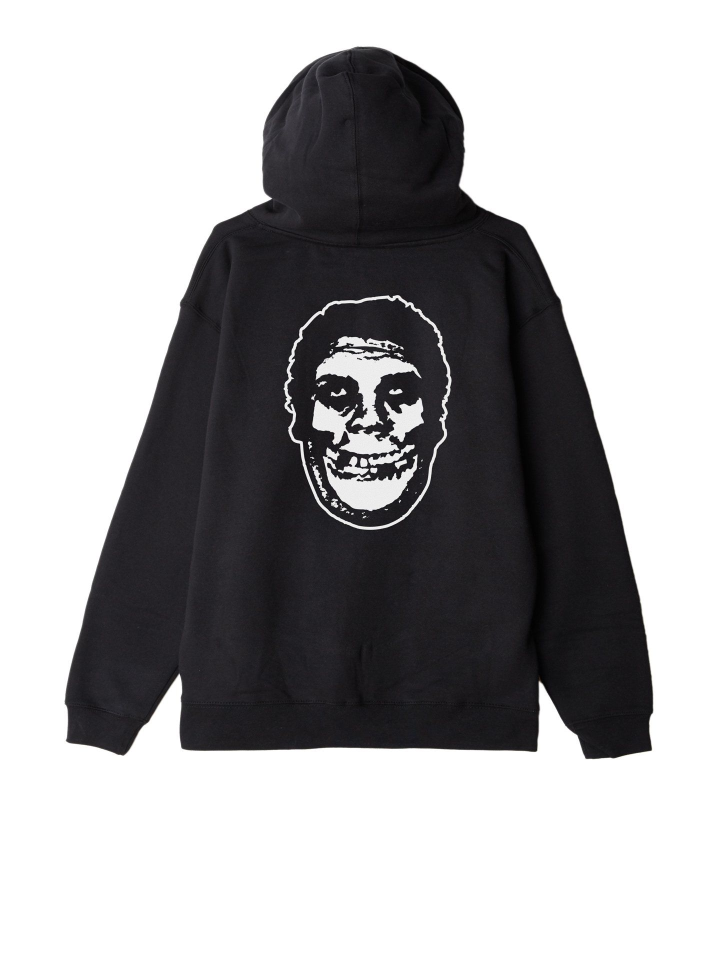obey x misfits fiend club zip hood black | OBEY Clothing