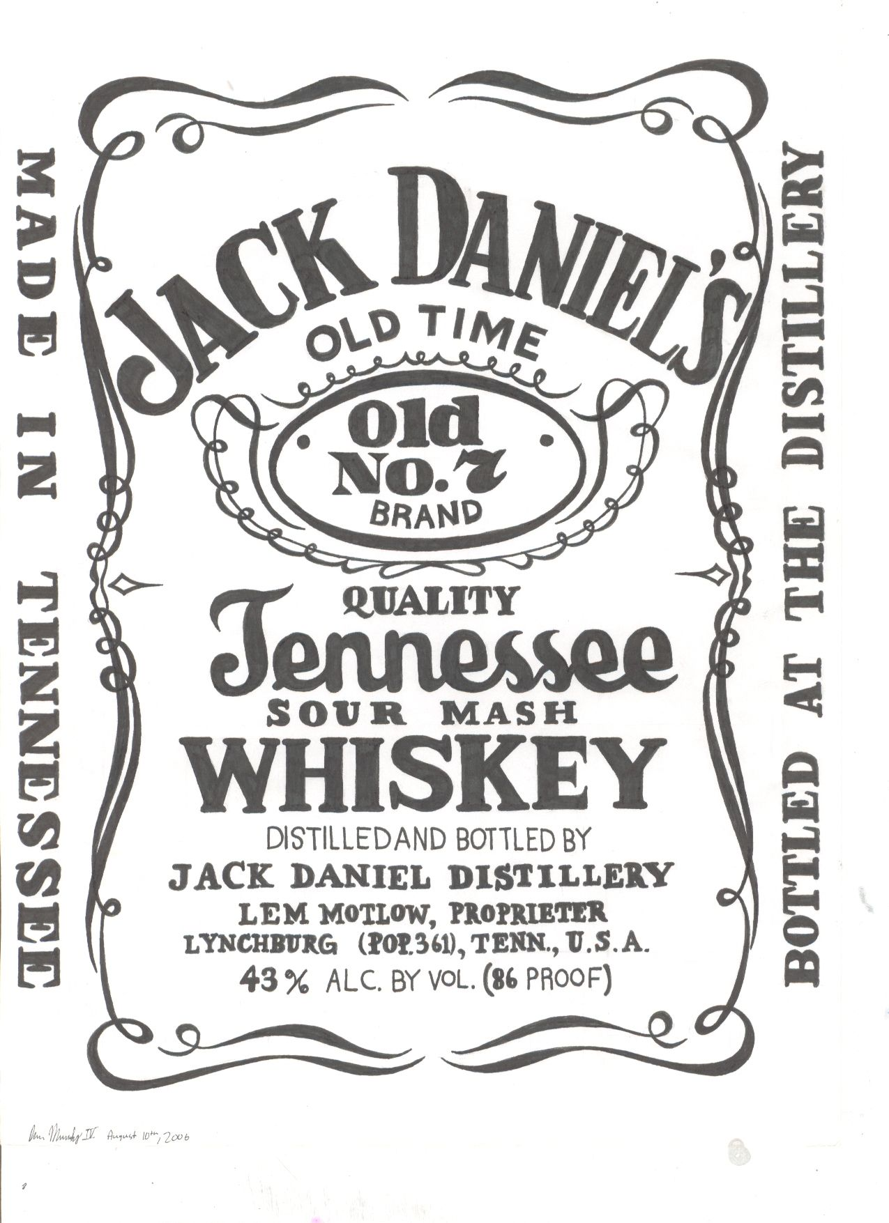 jack daniels logo stencil - Google Search