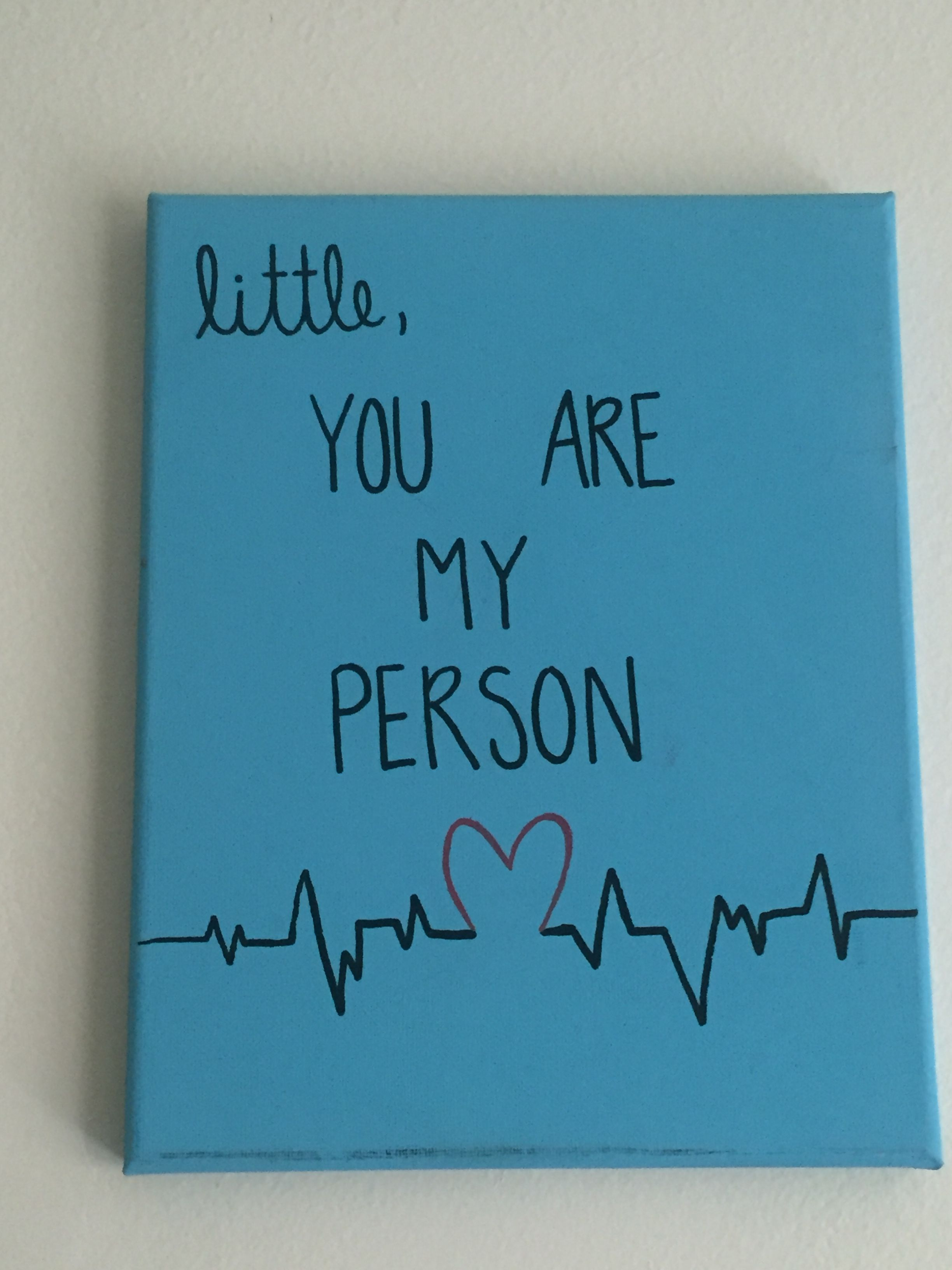 Grey's Anatomy You Are My Person Big/Little canvas #biglittlecanvas