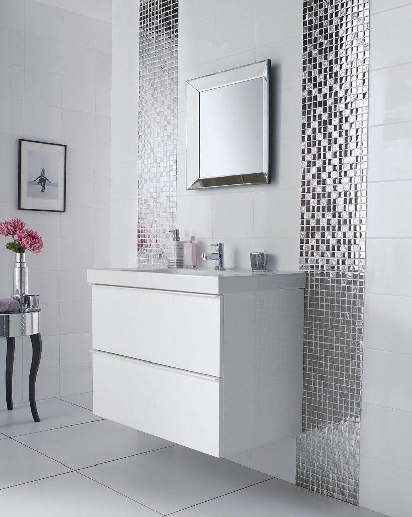 Slate Silver Square Mosaic | Topps Tiles | Bathroom | Pinterest ...