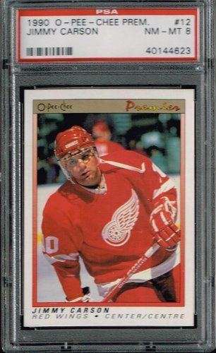 a56daa0b0 PSA 8 1990 Opeechee OPC Premier NHL Hockey Card Jimmy Carson  12 Detroit Red  Wings Sold And Photographed By Thegoodoldboys by Opeechee.  14.00.