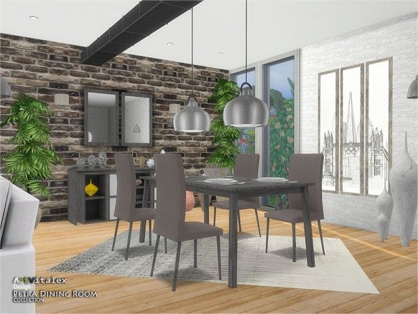 The Sims Resource Petra Dining Room By Artvitalex Sims 4 Downloads Sims House Sims 4 Cc Furniture Sims 4 City Living