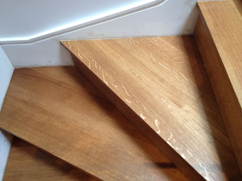 Charming Rift And Quartered White Oak Stairs
