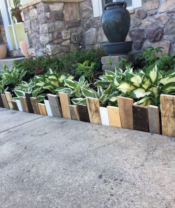 Use Pallets Wooden Garden Edging