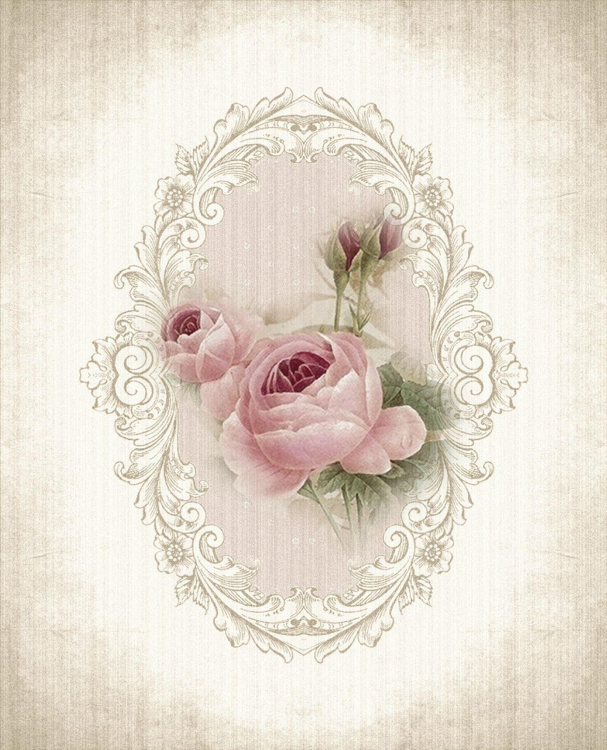 Vintage rose printable beautiful roza vintage pinterest vintage decoupage and rose - Papel de arroz para decorar muebles ...